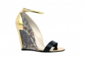 奢华的蛇皮纹印花与古典的金色鞋跟完美融合 (2图)