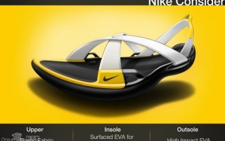 耐克环保设计拖鞋设计效果图